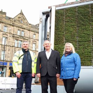 Northumbrian installs 'moss tree' to fight city-centre pollution