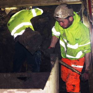 Tunnelling team hand-digs 20-metre stretch of Edinburgh sewer