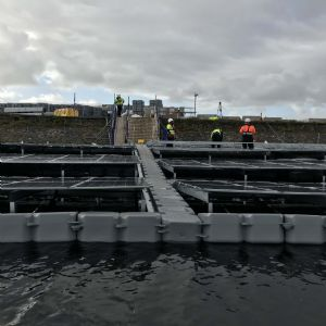 UU building floating solar farm on Langthwaite Reservoir