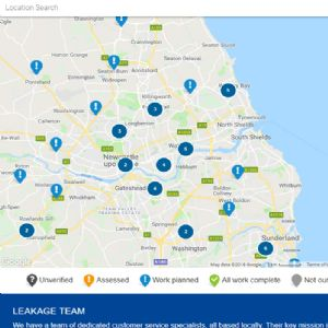 Northumbrian launches interactive online leakage map