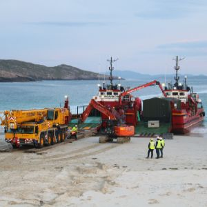 Scottish Water brings beach landing island water works on stream
