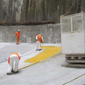 Waterproofing completed on Lee Tunnel pumping shaft