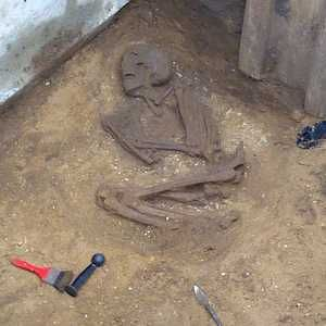 Roman skeleton found during sewer upgrade